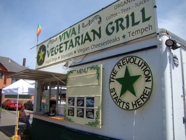 Viva Vegetarian Grill Aka Tofurky Food Cart Vegan Food Cart